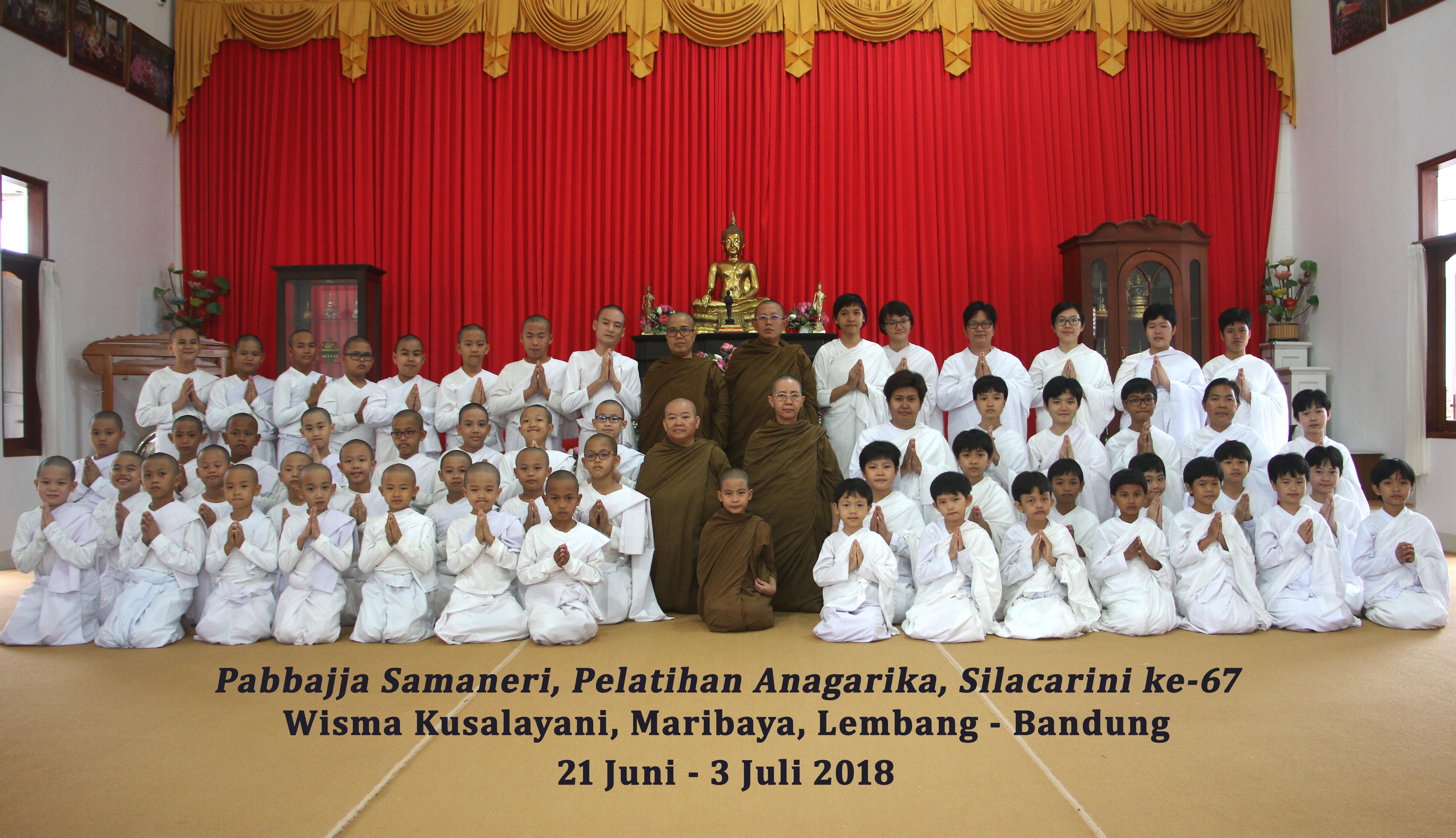 Liputan Pabbajja Samaneri, Pelatihan Anagarika dan Silacarini ke-67 (Juni- Juli 2018)
